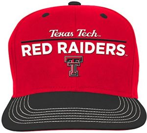 100% authentic 31fc5 97851 NCAA Texas Tech Red Raiders Youth Boys Retro Bar Script Flatbrim Snapback  Hat, Red, Youth One Size
