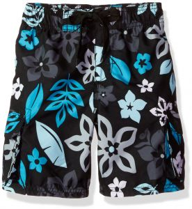 f297793417 Kanu Surf Little Boys' Revival Floral Quick Dry Beach Board Shorts Swim  Trunk, Black, Medium (5/6)