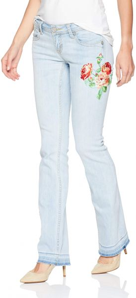 9f96def8d جينز نسائي من Grace in LA مطرز من Boho - Boho Embroidered Bootcut Jeans 26