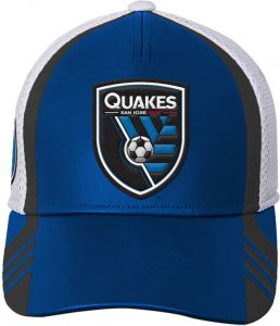 promo code 69446 3cc39 Outerstuff MLS San Jose Earthquakes Boys Structured Flex Hat, Master Blue,  One Size (8)
