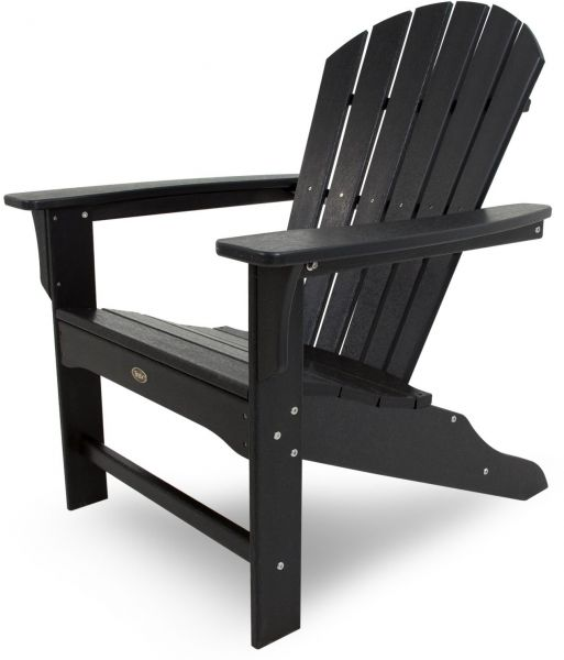 Trex Outdoor Furniture Cape Cod Adirondack Chair Charcoal Black