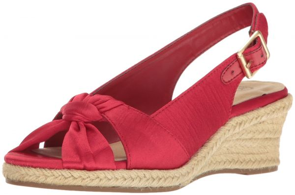 3f2acc0bb74 Bella Vita Women's Seraphina Ii Espadrille Wedge Sandal, Red Silk, 8.5 2W US