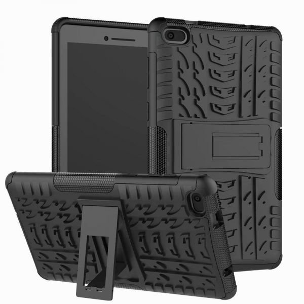 Case for Lenovo Tab E7 TB-7104I Tablet - 7 Inch Heavy Duty Rugged Armor Defender Kickstand Back Cover