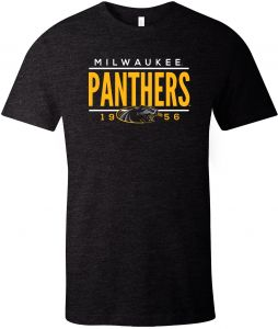 7de36fd0 Image One NCAA Wisconsin Milwaukee Panthers Tradition Short Sleeve  Tri-Blend T-Shirt, Solid Black,X-Large