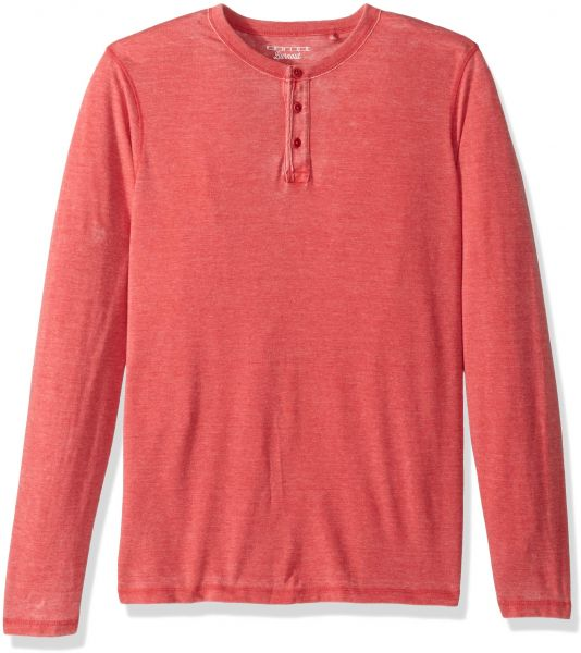 1655d6a8 Lucky Brand Men's Casual Long Sleeve Sueded Burnout Henley, Pompeian ...