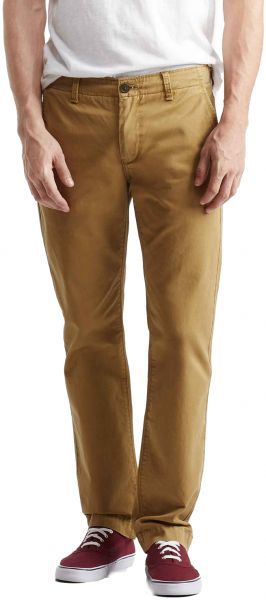 Aeropostale Cotton Straight-Cut Chino Pants for Men - Camel