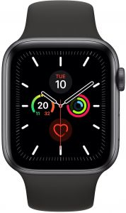 Apple Watch Series 5 44mm Space Grey Aluminium Case With Black Sport Band S M M L Gps Watchos 6 Mwvf2ae A Buy Online Smart Watches At Best Prices In Egypt