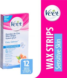 Veet Hair Removal Wax Stripes For Sensitive Skin 12 Stripes
