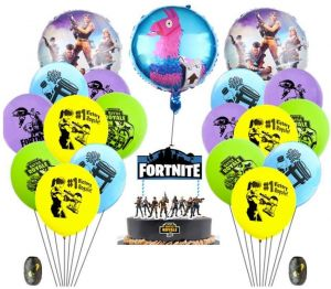 Phenomenal Fortnite Video Game Party Supplies Happy Birthday Cake Banners Birthday Cards Printable Opercafe Filternl