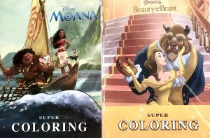 2 Super Coloring Disney Books Moana And Beauty And Beast 48 34 Cm From Nahdet Misr Buy Online Stationery At Best Prices In Egypt Souq Com