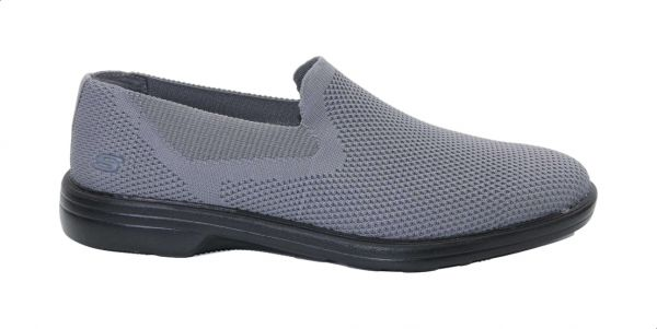 confiar perdón agenda  Skechers Walson Mesh Notched Vamp Elastic-Insert Side-Logo Slip-On Sneakers  for Men - Grey, 44 : Buy Online Athletic Shoes at Best Prices in Egypt |  Souq.com