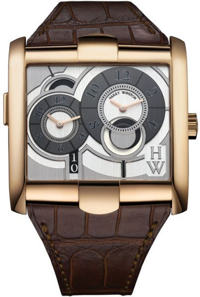 Harry Winston Avenue A2 Squared Rose Gold Watch