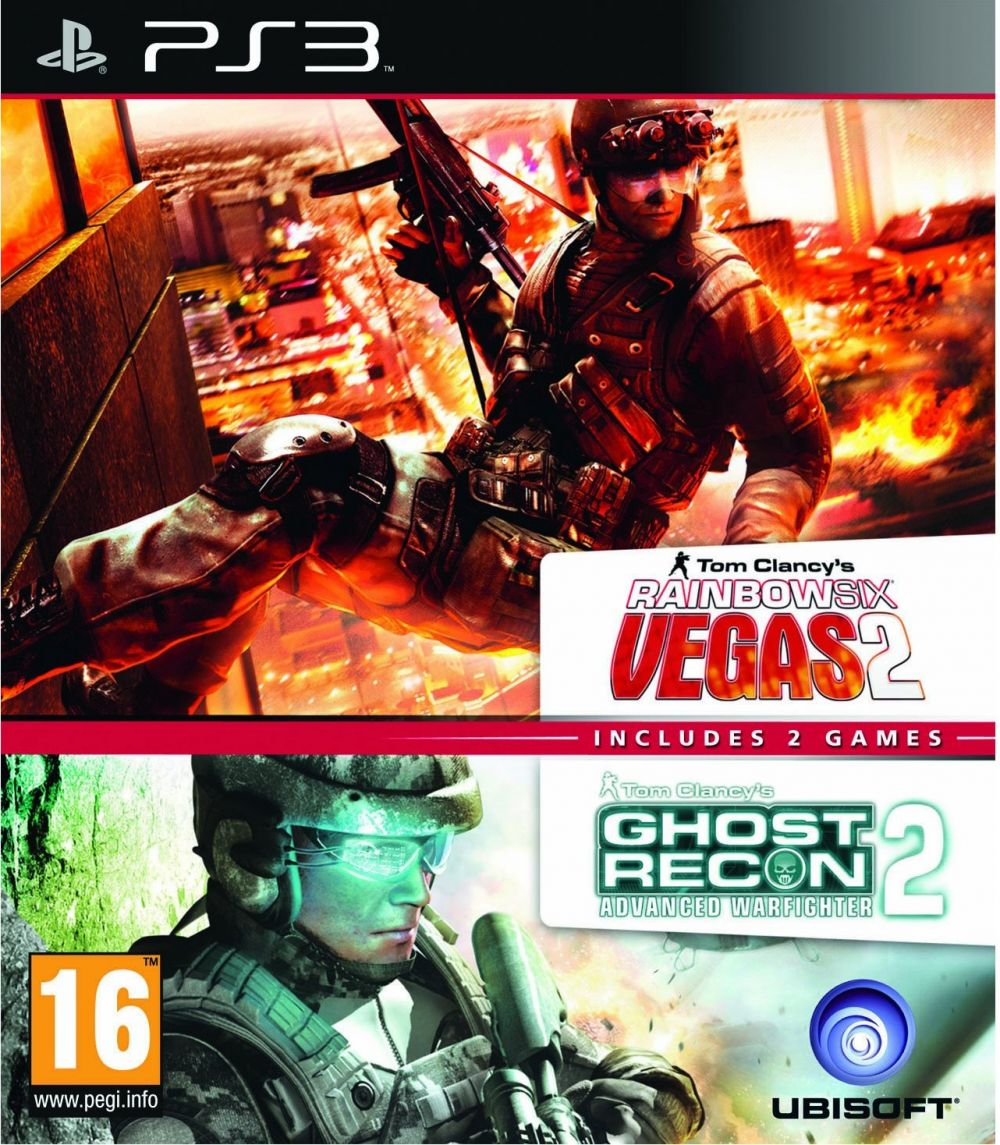 Rainbox Six Vegas 2 & Ghost Recon Advanced Warfighter  - PAL - X06-10297