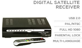 Digital Satellite Receiver Tiger T6 Class Full HD 1080